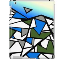 Glacier abstract blue mountain vector landscape iPad Case/Skin