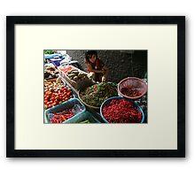 Market - Spice Framed Print