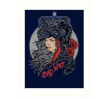 Bad Wolf -Blues Art Print