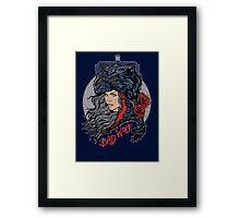 Bad Wolf -Blues Framed Print
