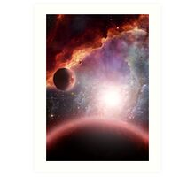 The Red Planets Art Print