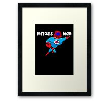 Mitosis Man (white text) Framed Print