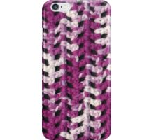 Closeup purple and white crochet pattern iPhone Case/Skin