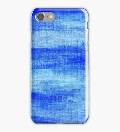 Blue painted abstract background iPhone Case/Skin