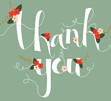 Sophia Thank You/Greetings Card by Francesca  Fearnley