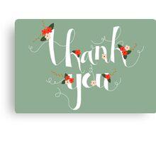 Sophia Thank You/Greetings Card Canvas Print