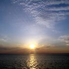 Sunset on Lake Ponchartrain by Wanda Raines