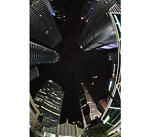 Raffles Plaza in Fisheye2 Photographic Print