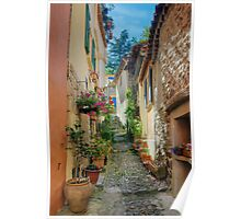 A narrow street in Provence village Poster