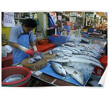 Market - Chopping Fish Poster