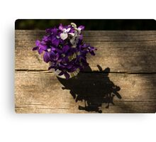 A Fragrant Bouquet of Miniature Spring Violas - Can You Smell Them? Canvas Print