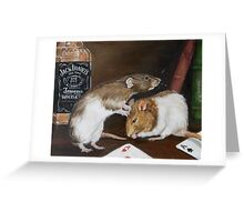 Rat oil painting Greeting Card