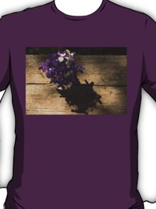 A Fragrant Bouquet of Miniature Spring Violas - Can You Smell Them? T-Shirt