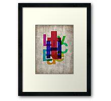 Helvetichroma Framed Print
