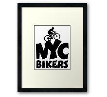 NYC Bikers Framed Print