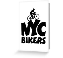 NYC Bikers Greeting Card
