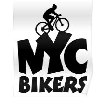 NYC Bikers Poster