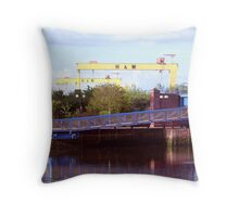 Belfast Docks (9) Throw Pillow