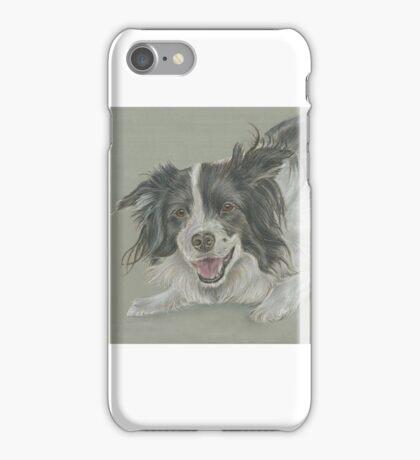 Collie dog pastel portrait iPhone Case/Skin
