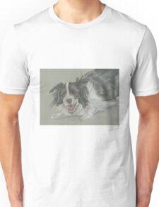 Collie dog pastel portrait Unisex T-Shirt