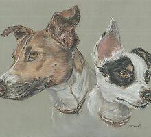 Pastel dog portrait by jdportraits