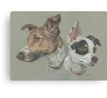 Pastel dog portrait Canvas Print