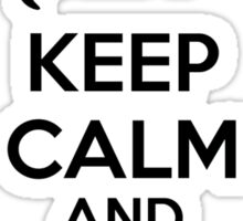 Keep calm and purr on Sticker