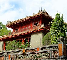 The Tomb's Pagoda  - Hue, Vietnam. by Tiffany Lenoir