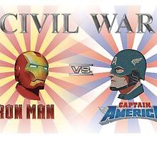 Iron Man v Captain America by EmzRees