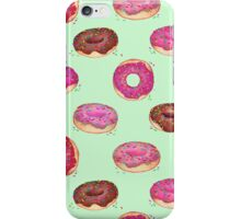 Delicious Donuts - on mint green  iPhone Case/Skin