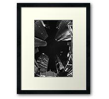 Raffles Plaza in Fisheye (B&W) Framed Print