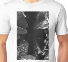 Raffles Plaza in Fisheye (B&W) Unisex T-Shirt
