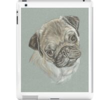 Pug dog pastel portrait iPad Case/Skin