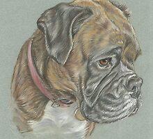 Dog pastel portrait by jdportraits