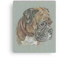 Dog pastel portrait Canvas Print