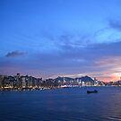 Hong Kong skyline by Leia