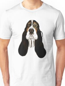 Basset Hound With Monocle Unisex T-Shirt