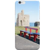 benches and path to Ballybunion castle iPhone Case/Skin