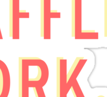 Friends Waffles Work Sticker