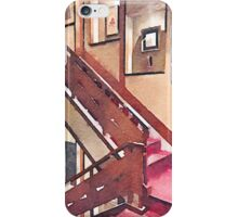 Wooden Staircase at a Japanese-style Inn iPhone Case/Skin