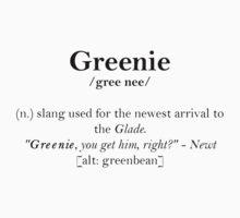 Glader slang dictionary: Greenie by TheBloodyMaze