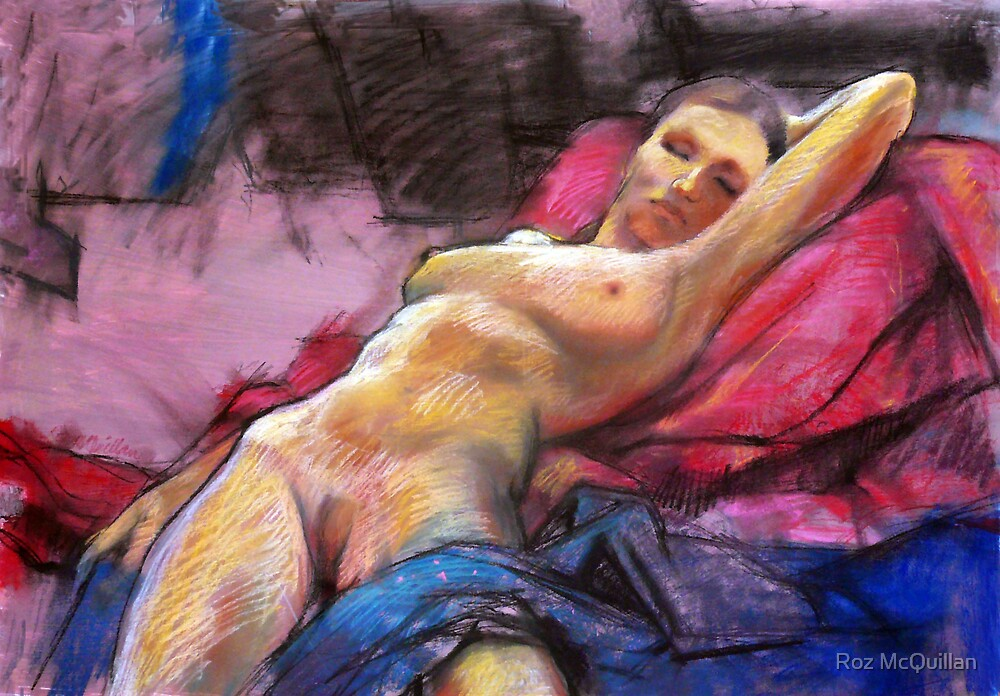 Female nude sleeping :  by Roz McQuillan