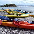 Kayaks - Spectacle Island, Tasmania by Eve creative photografix