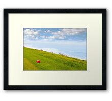 red stone on the Ballybunion links golf course Framed Print