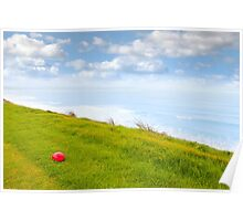 red stone on the Ballybunion links golf course Poster