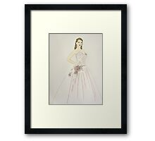 Wedding Dress No 6 Framed Print