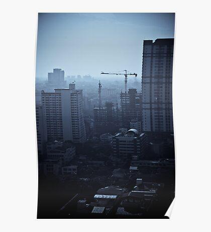 Blue Lite Construction - Bangkok, Thailand Poster