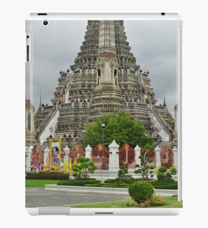 Temple in Bangkok at Ground Level iPad Case/Skin
