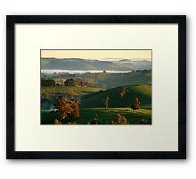 Rolling Hills, Dollar Gippsland Framed Print