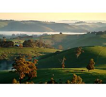 Rolling Hills, Dollar Gippsland Photographic Print